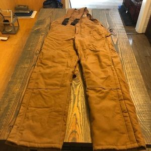Men's Carhartt quilted lining overalls. Very nice!